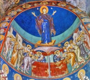 bogorodica-perivlepta-sveti-kliment-freska