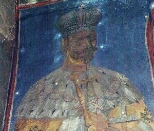 Фреска Императора Николая II в цркве Св. Саввы Сербского в монастыре Жича
