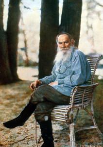 С. М. Прокудин-Горский. Одна из последних фотографий Л. Н. Толстого (1908)