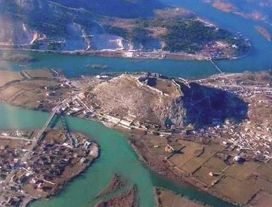 Вид на крепость Скадар с воздуха