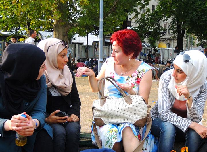Беженки в Белграде