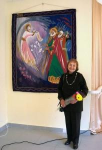 Наталия Озерная перед своей работой