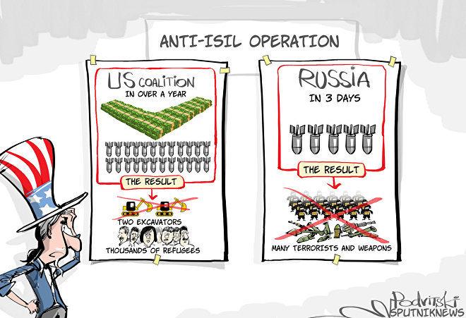 Карикатура Виталия Подвицкого для агентства Sputniknews.