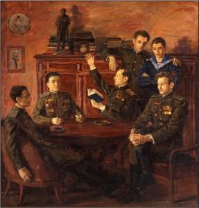 Групповой портрет А. С. Пушкина. Холст, масло, 145х141. 1957 г.