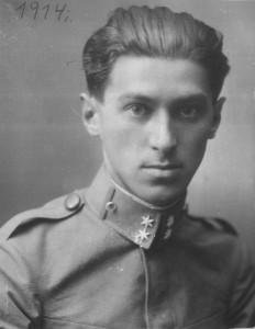 Милош Црнянский в военной форме, 1914 год