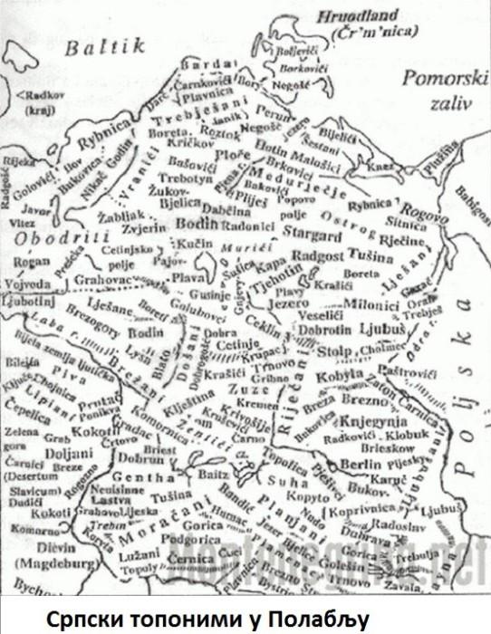 Сербские топонимы в Полабье