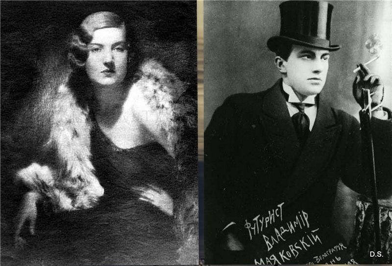 Татьяна Яковлева (1906-1991) и Владимир Маяковский