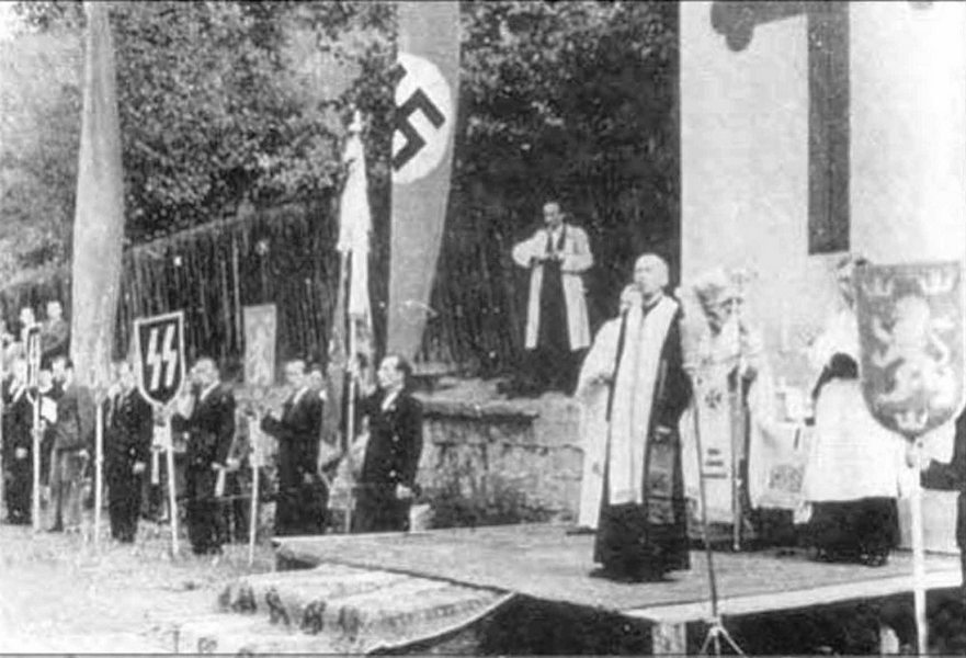 УГКЦ способствовали нацистскому режиму и благословляли галицкую молодежь на отправку и работу в в немецких концлагерях, а фашистов на расстрел мирных граждан