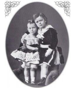 С братом Георгием в 1873 году