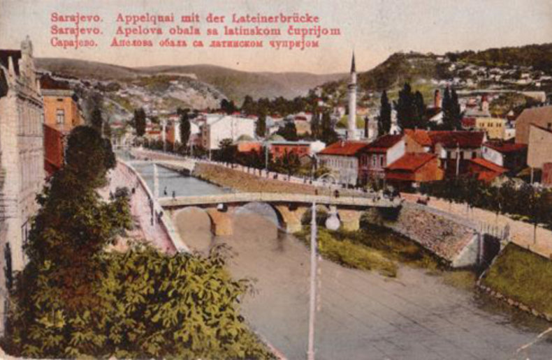 Сараево. Принципов мост. Фото 1913 года.