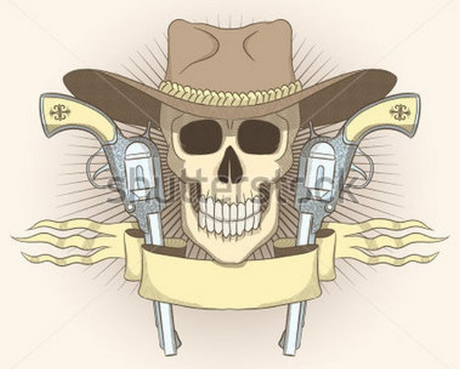 cowboy-emblem-with-a-skull-wearing-a-hat-and-a-gun-a-sign-in-the-wild-west-style-with-imitation-engraving_214103902
