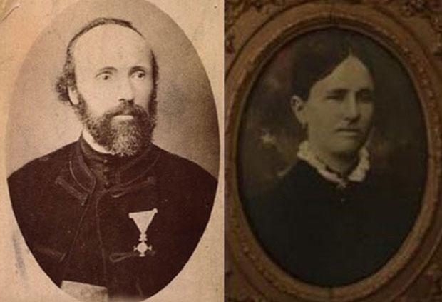 Родители Николы Теслы: отец Милутин и мать Георгина