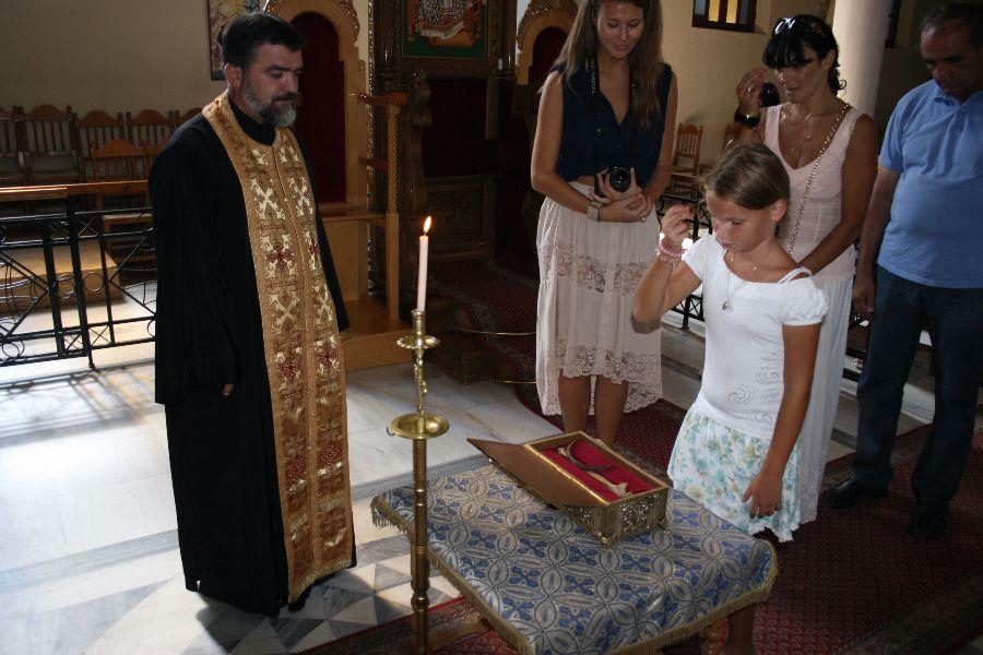 Предплечье святого Йована Владимира (с ребром святого Космы Этолийского)