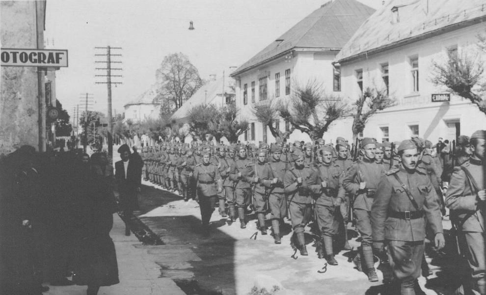 Домобраны в г. Госпич (Лика) в 1941 году