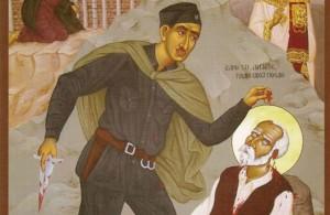 Мученичество св. Вукашина Ясеновацкого (деталь): «Дитя, делай свое дело!»
