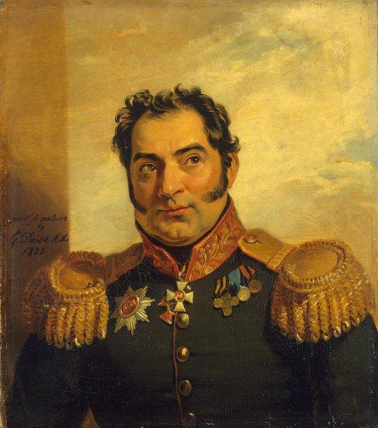 Джордж Доу. Портрет Н. В. Вуича. Военная галерея Зимнего дворца