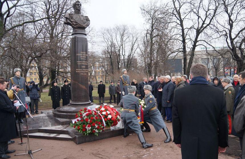 Открытие памятника генералу Милорадовичу 4. XII 2015 г. в Санкт-Петербурге