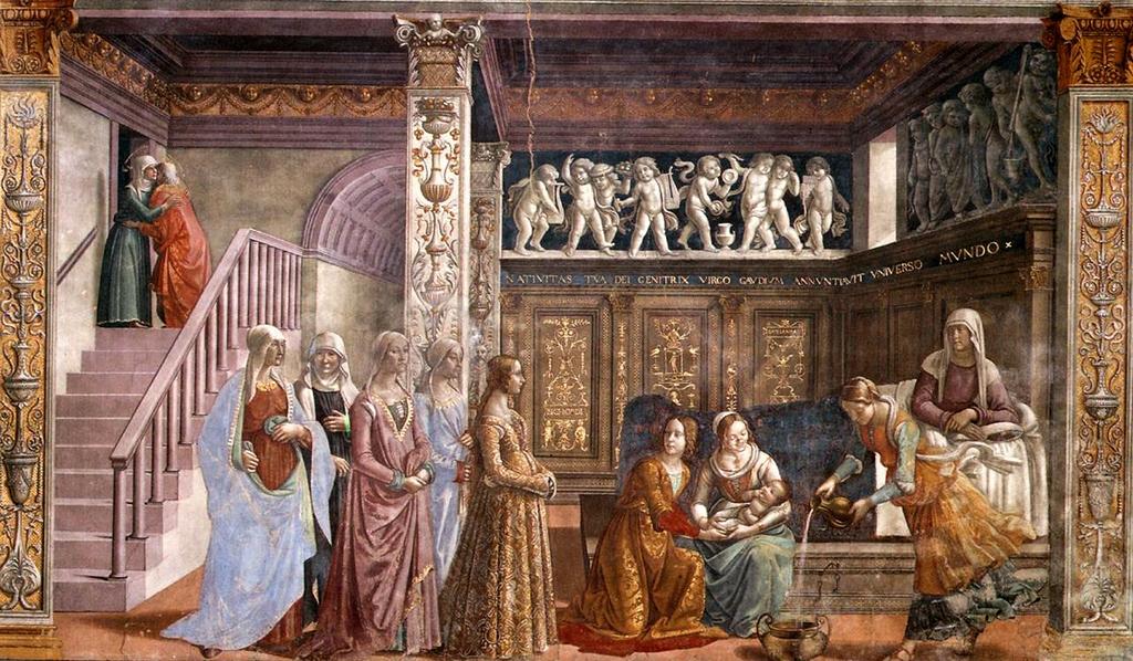 Доменико Гирландайо: Рождество Богоматери.