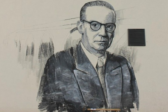Иво Андрић мурал -Вишеград