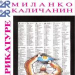 Карикатуре Миланка Каличанина: КАТАЛОГ, децембар 2004.