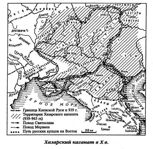 Карта 3. Хазарски Каганат у Х веку