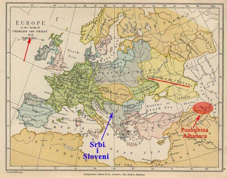 Европа почетком IX века