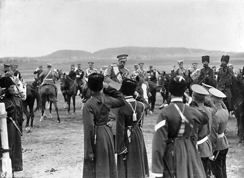 Император Николај II на војном полигону