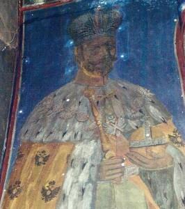 Свети Цар Николај, фреска у цркви Св. Саве, манастир Жича, 30-те године ХХ вѣка