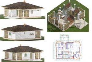 Пример куће обрађене за рекламу