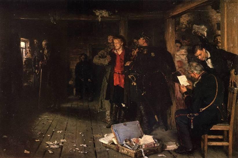 Иља Рѣпин: ХАПШЕЊЕ ПРОПАГАНДИСТЕ (1880-82.)