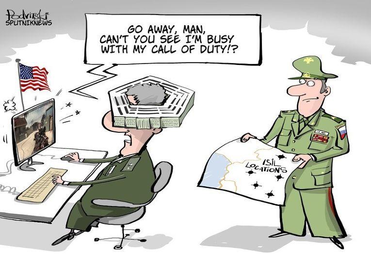 Карикатура Виталија Подвицког за агенцију Sputniknews