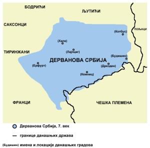 Дерванова Србија у Полабљу у 7.веку