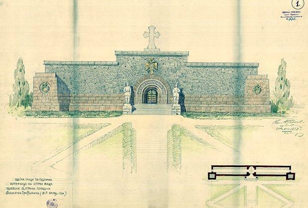 Nikolaj Krasnov - crtež za spomen kosturnicu na Vidu