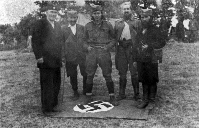 Четници гате заставу нацистичке Нѣмачке