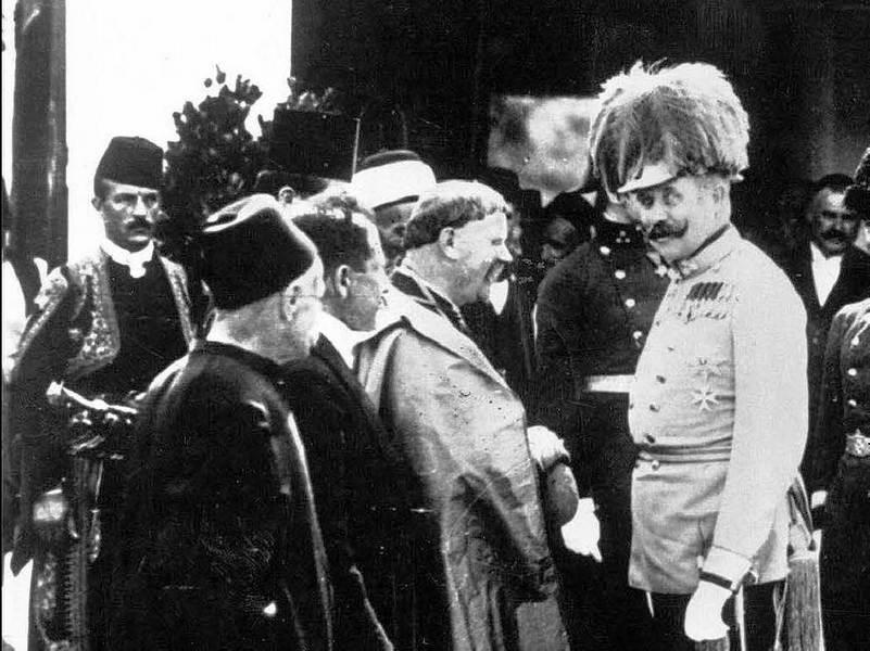 Сарајево, 28. јуна 1914: Прѣстолонаслѣдник Франц Фердинанд непосрѣдно прѣ атентата