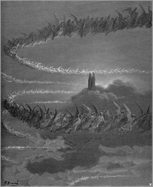 """ДУШЕ ПРАВЕДНИКА: """"Тако су унутар светала бића сва та, // света, певала летећи..."""" (Рај, XVIII, 76-77)"""