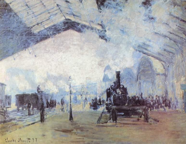 Клод Моне (1840-1926): КОЛОДВОР СЕН ЛАЗАР, ВОЗ ИЗ НОРМАНДИЈЕ, уље на платни, 53х72 цм, 1877.