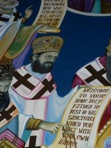 Фреска са ликом владике Максима (Васиљевића) у цркви Светог Саве, Џексон, Калифорнија. Фото: Википедија