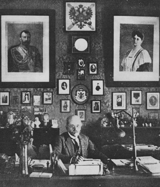 """Николај Жевахов у свом кабинету у италијанском граду Барију. Збирка музеја """"Наша епоха"""", Москва"""