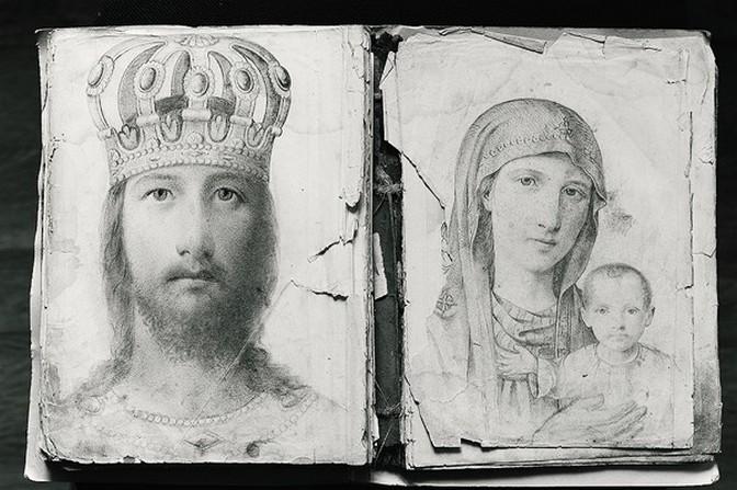Ове оловком урађене слике освајају својим духовним садржајем и истанчаношћу не мање од икона израђених у боји