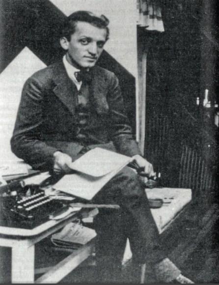 Бранко Ве Пољански, брат Љубомира Мицића, 1921.