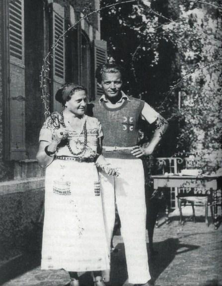 Љубомир Мицић са супругом Анушком у Кану, 1934.