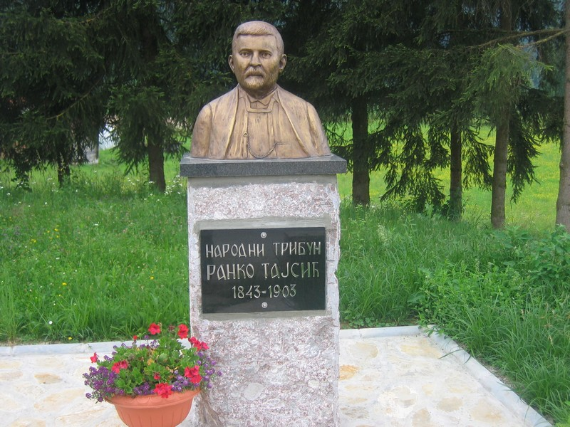 Спомен-биста народном трибуну Ранку Тајсићу (1843-1903), откривена у његовом родном драгачевском селу Пухову 2010. године.
