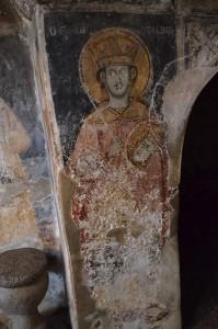 Фреска светог Јована Владимира у манастиру Свети Наум