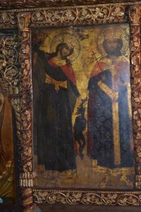 Икона светог Јована Владимира на иконостасу у манастиру Свети Наум