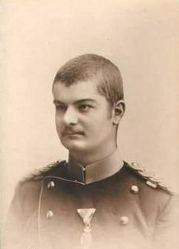 Краљ Александар Обреновић. Слика из 1890. године.
