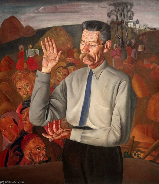 Борис Григорјев(1886-1939): ПОРТРЕТ МАКСИМА ГОРКОГ