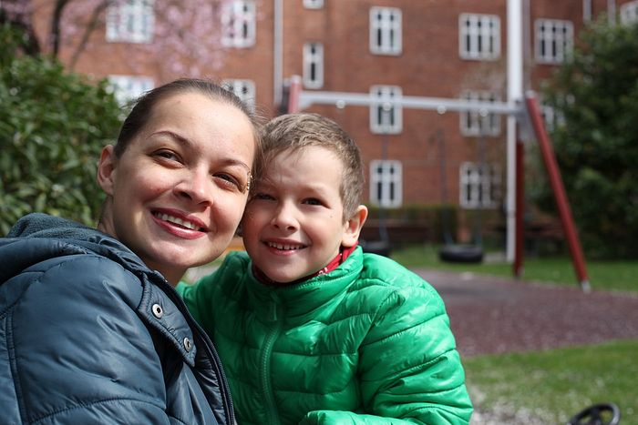 Ксенија Симонова са сином Димом