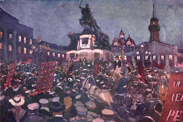 Трг Скобељева за време Фебруарске револуције