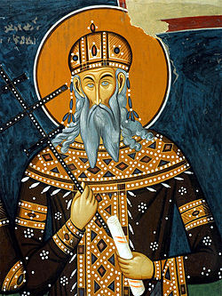 Краљ Вукашин, фреска из манастира Светог Николе, село Псача, Македонија